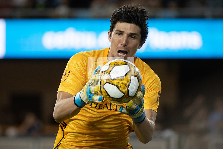 SAN JOSE,  - SEPTEMBER 1: Brian Rowe #23 of the Orlando City SC during a game between Orlando City SC and San Jose Earthquakes at Avaya Stadium on September 1, 2019 in San Jose, .
