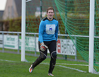 20151128 - PITTEM , BELGIUM : Caetlin Ceelen pictured during a soccer match between the women teams of DVK Egem Ladies and KVK Svelta Melsele  , during the eleventh matchday in the Second League - Tweede Nationale season, Saturday 28 November 2015 . PHOTO DAVID CATRY