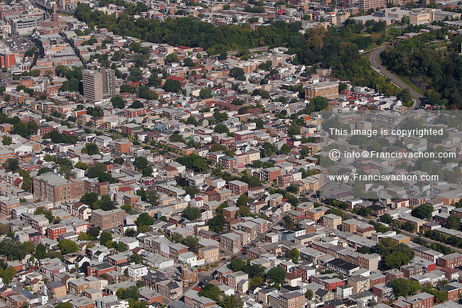 Quartier St Sauveur district of Quebec city is pictured in this aerial photo Thursday September 3, 2015.