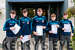 St. Michael's College, Listowel students who received their Junioir Cert results on Friday morning last.L-R: Bobby O'Connell, Jared Tritschler, Kian Dowling, Igor Kwas & James O'Connell.