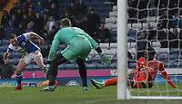 Blackburn Rovers' Craig Conway has a shot at goal<br /> <br /> Photographer Rachel Holborn/CameraSport<br /> <br /> The EFL Sky Bet League One - Blackburn Rovers v Shrewsbury Town - Saturday 13th January 2018 - Ewood Park - Blackburn<br /> <br /> World Copyright &copy; 2018 CameraSport. All rights reserved. 43 Linden Ave. Countesthorpe. Leicester. England. LE8 5PG - Tel: +44 (0) 116 277 4147 - admin@camerasport.com - www.camerasport.com