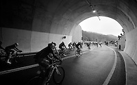 tunnel racing: out of the Turchino tunnel awaits the descent to the Mediteranian<br /> <br /> 2014 Milano - San Remo