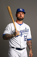 Feb 27, 2015; Surprise, AZ, USA; Kansas City Royals infielder Ryan Roberts poses for a portrait during photo day at Surprise Stadium. Mandatory Credit: Mark J. Rebilas-USA TODAY Sports