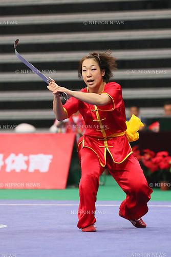 Erika Kojima (JPN), OCTOBER 7, 2013 - Wushu : Tianjin 2013 the 6th East Asian Games, Taolu-Women's Nanquan & Nandao All-Round Nandao at Tianjin Normal University Gymnasium, Tianjin, China. (Photo by AFLO SPORT)