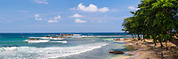 Panoramic photo of Galle Beach, Old Town of Galle, a UNESCO World Heritage Site on the South Coast of Sri Lanka, Asia. This is a panoramic photo of Galle Beach in the Old Town of Galle, a UNESCO World Heritage Site on the South Coast of Sri Lanka, Asia.