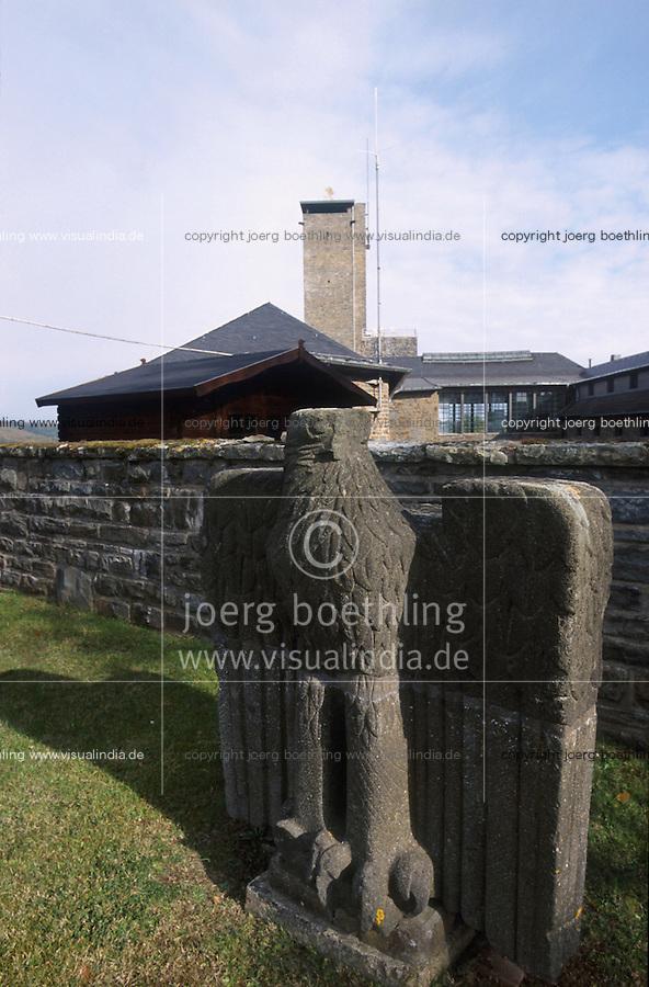 GERMANY Eifel, Nazi historical site fortress Vogelsang / DEUTSCHLAND, NS Ordensburg Vogelsang in der Eifel, NRW, 1936 als Schulungsstätte für Ordensjunker von den Nationalsozialisten eingerichtet, Adlerhorst und Wasserturm