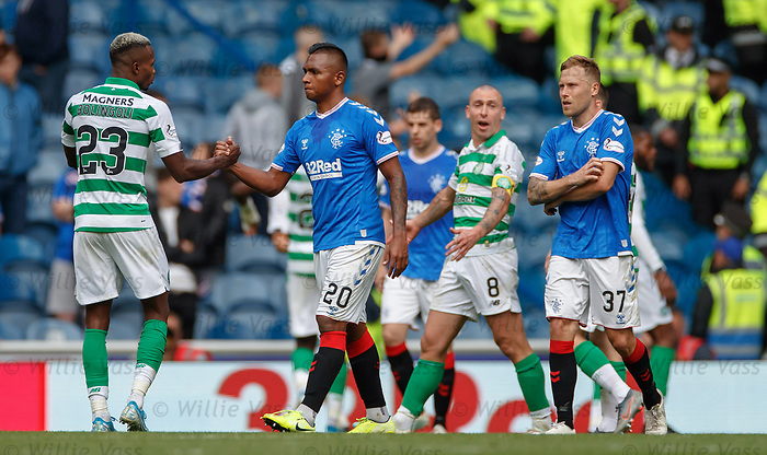 01.09.2019 Rangers v Celtic: Alfredo Morelos at full time