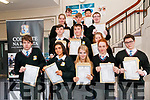 North Kerry Collage Junior cert students who received their results on Wednesday morning last. Front : Nikos Szeipo, Martina Bajgerova, Kaoife Carey, Mollie McElligott & Matt Waloszek. 2nd Row: Dylan Sloan, Michael Hennessy & Tinka Forrister Jones. 3rd row: Katelyn Cusack, Dean Broderick & Daniel Anern Back : Lee Loughlin & Steven Chen.