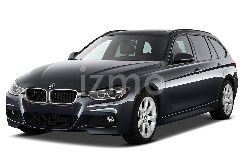 Front three quarter view of a 2013 BMW 330d Touring Wagon