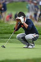 Kodai Ichihara (JPN) looks over his putt on 2 during round 1 of the 2019 US Open, Pebble Beach Golf Links, Monterrey, California, USA. 6/13/2019.<br /> Picture: Golffile | Ken Murray<br /> <br /> All photo usage must carry mandatory copyright credit (© Golffile | Ken Murray)