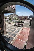 vista panorámica de cerro de la campana y. Centro de Gobierno en el Vado del Rio de Hermosillo, Sonora