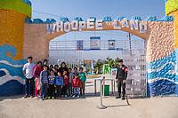 Nepal, Kathmandu. Olga bringing NYF kids to the amusement park.