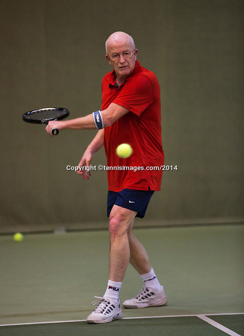 Hilversum, The Netherlands, 05.03.2014. NOVK ,National Indoor Veterans Championships of 2014, Bert Bos (NED)<br /> Photo:Tennisimages/Henk Koster
