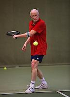 Hilversum, The Netherlands, 05.03.2014. NOVK ,National Indoor Veterans Championships of 2014, Bert Bos (NED)<br /> Photo:Tennisimages/Henk Koster