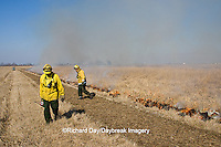 63863-02501 IL DNR biologists at controlled prairie burn, Prairie Ridge State Natural Area, Marion Co. IL
