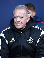 Alan Curtis caretaker manager of Swansea   during the Emirates FA Cup 3rd Round between Oxford United v Swansea     played at Kassam Stadium  on 10th January 2016 in Oxford