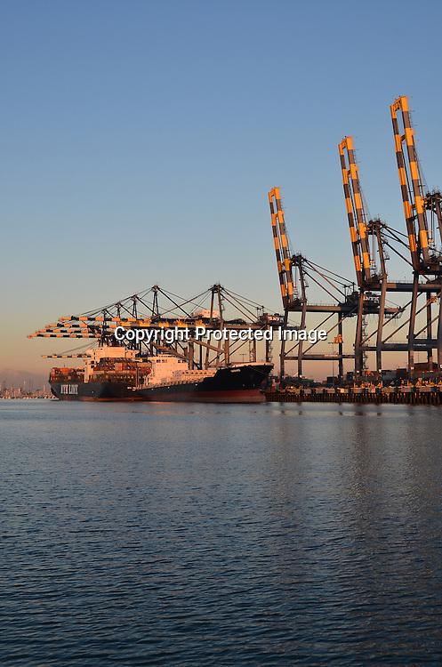 Ship at Port Stock Photo
