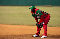 15 February 2009: First base Joan Carlos Pedroso of the Orientales is seen during a training game of Cuba Baseball Team for the World Baseball Classic 2009. The national team is pitted against itself, divided in two teams called the Occidentales and the Orientales. The Orientales win 12-8, at the Latinoamericano stadium, in la Habana, Cuba.