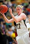 4 January 2010: University of Vermont Catamounts' guard/forward Ashley Hoyt, a Sophomore from Arlington, VT, in action against the University of Nebraska Cornhuskers at Patrick Gymnasium in Burlington, Vermont. The Huskers, finishing off their first perfect non-conference season in school history, improved to 13-0 with the 94-50 win over the Lady Cats. Mandatory Credit: Ed Wolfstein Photo