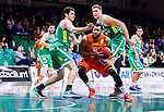 S&ouml;dert&auml;lje 2015-01-17 Basket Basketligan S&ouml;dert&auml;lje Kings - Bor&aring;s Basket :  <br /> Bor&aring;s Christopher Chris McKnight i kamp om bollen med S&ouml;dert&auml;lje Kings Toni Bizaca och Carl Engstr&ouml;m under matchen mellan S&ouml;dert&auml;lje Kings och Bor&aring;s Basket <br /> (Foto: Kenta J&ouml;nsson) Nyckelord:  Basket Basketligan S&ouml;dert&auml;lje Kings SBBK T&auml;ljehallen Bor&aring;s