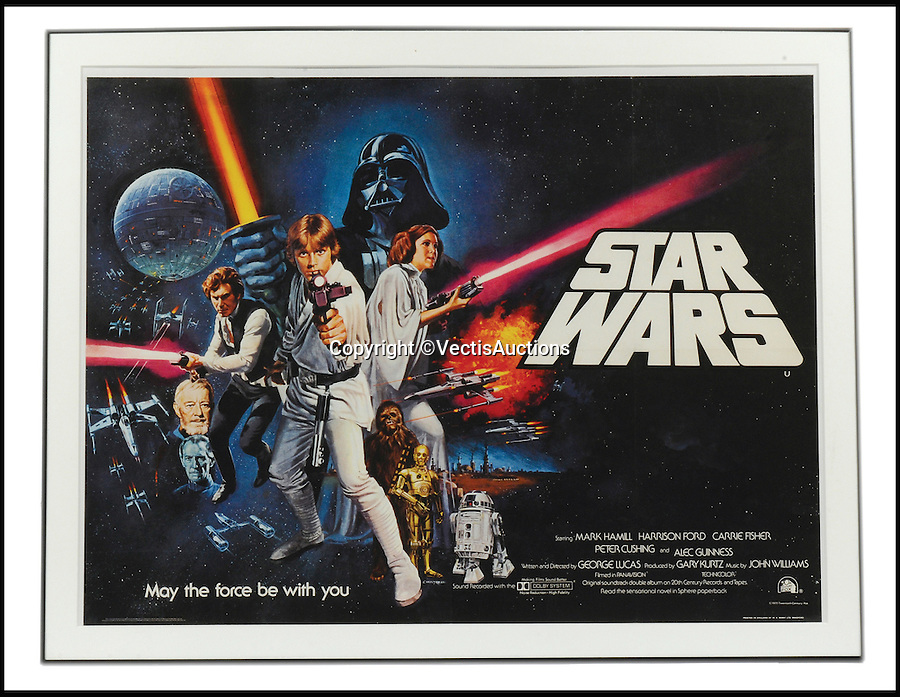 BNPS.co.uk (01202 558833)<br /> Pic: Vectis/BNPS<br /> <br /> Star Wars (1977) Film Poster. UK Quad. Pre-Oscars sold for &pound;1,480.<br /> <br /> A tiny plastic rocket from a Star Wars action figure has sold for almost &pound;2,000 as part of a huge &pound;160,000 sale of rare toys relating to the film franchise.<br /> <br /> The red missile measures just 28mm long and was attached to the back of a prototype figure of bounty hunter Boba Fett.<br /> <br /> A complete prototype Boba Fett can sell for &pound;13,000 but thanks to a letter of authentication and grading by the Action Figure Authority (AFA), the small rocket made &pound;1,920 by itself at auction.<br /> <br /> It was one of almost 700 Star Wars lots that sold for &pound;160,000, with many toys that originally sold for &pound;1.50 achieving four-figure sums.<br /> <br /> With the release of Star Wars:The Force Awakens imminent, interest in memorabilia from the franchise has never been higher.
