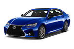2017 Lexus GS F 4 Door Sedan angular front stock photos of front three quarter view