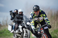 also to be found at recon today: Roubaix legend (triple winner!) Johan Museeuw (BEL)<br /> <br /> recon of the 114th Paris - Roubaix 2016