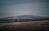 TT training at dawn at the Circuito de Almeria Fans with the mighty Sierra Nevada as a backdrop<br /> <br /> Michelton-Scott training camp in Almeria, Spain<br /> february 2018