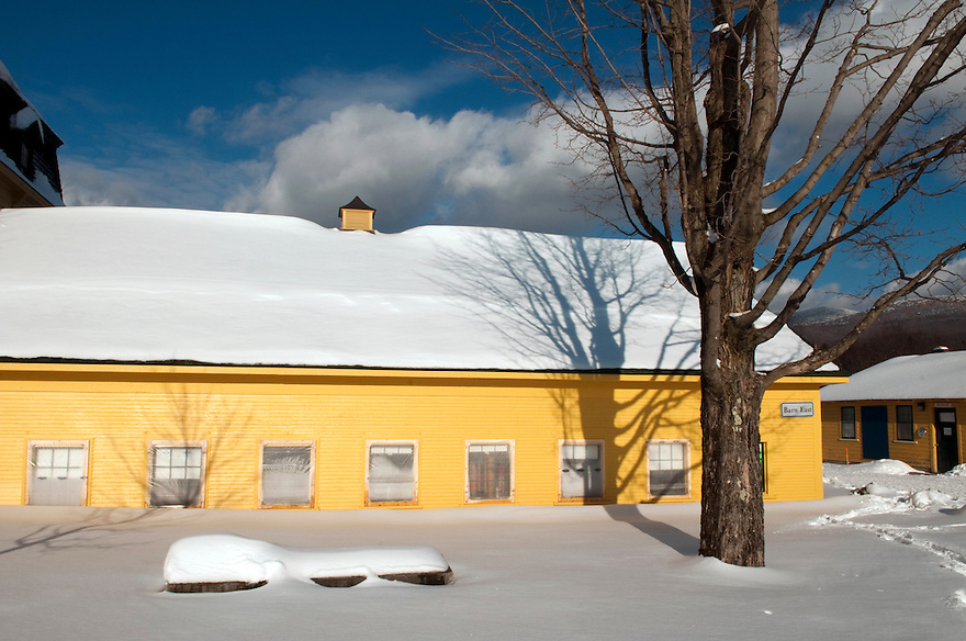 Winter at the Bread Loaf campus of Middlebury College, Vermont.