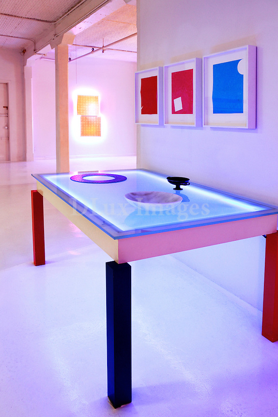 modern colorful table
