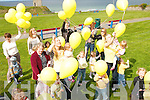 YELLOW FUN: Children from the Tir na nOg Childcare Centre in Ballybunion at a balloon ceremony to remember Madeline McCann in Ballybunion on Friday last..   Copyright Kerry's Eye 2008