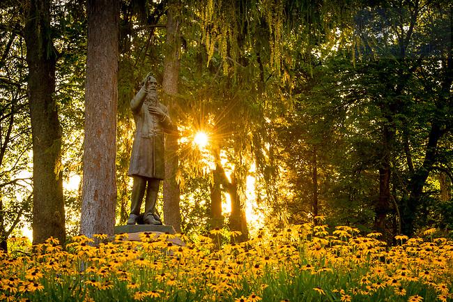 July 24, 2017; Fr. Corby statue (Photo by Matt Cashore/University of Notre Dame)