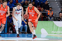 Real Madrid's Luka Doncic and Valencia Basket's Fernando San Emeterio during Quarter Finals match of 2017 King's Cup at Fernando Buesa Arena in Vitoria, Spain. February 19, 2017. (ALTERPHOTOS/BorjaB.Hojas)