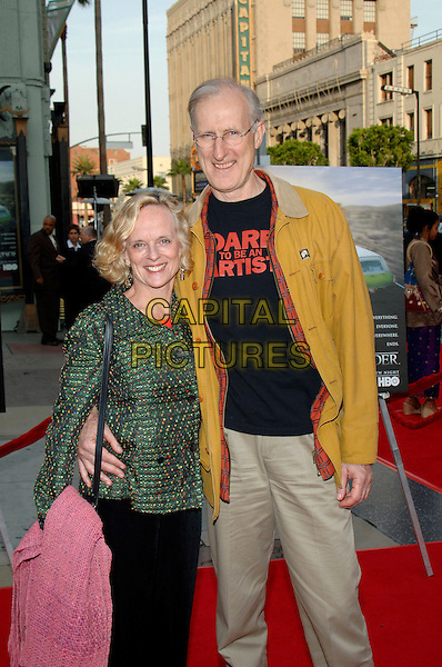 "JAMES CROMWELL & GUEST.HBO presents the Fifth Season Premiere of ""Six Feet Under"" at Grauman's Chinese Theatre, Hollywood, .California, USA, May 17th 2005..half length.Ref: ADM.www.capitalpictures.com.sales@capitalpictures.com.©J.Wong/AdMedia/Capital Pictures."