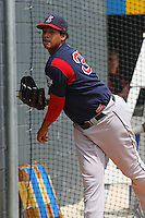 Jose Capellan of the Salem Red Sox throwing in the bullpen before starting against  the Myrtle Beach Pelicans on May 3, 2009