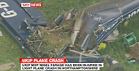 06/05/2010 Farage hurt in plane crash