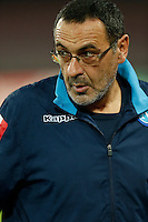 Napoli's coach  Maurizio Sarri during the Europa  League Group D soccer match between SSC Napoli and Midtjylland at the San Paolo  Stadium in NaplesNovember 05, 2015