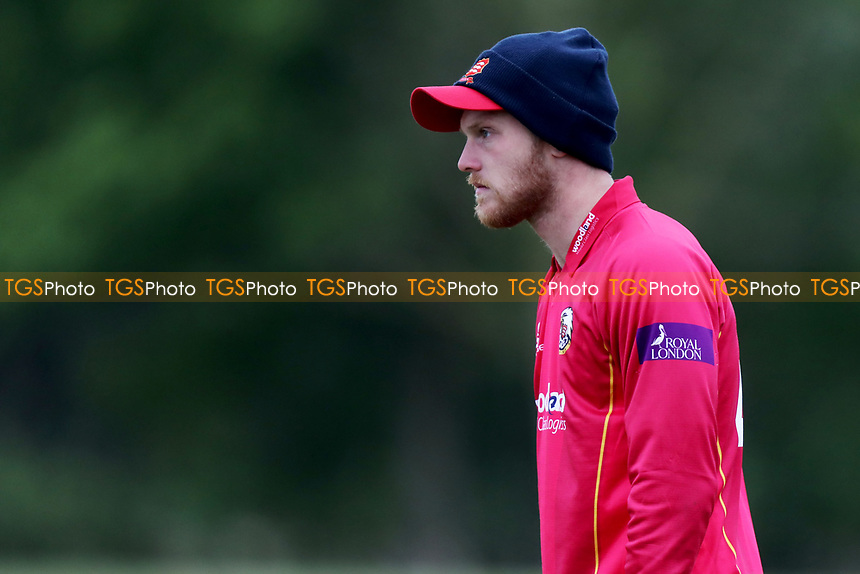 A cold looking Jamie Porter in the field during Essex CCC 2nd XI vs Surrey CCC 2nd XI, Second XI Trophy Cricket at Billericay Cricket Club on 3rd May 2017