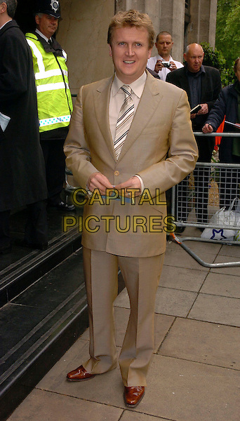 ALED JONES.The Ivor Novello Awards at Grosvenor House, Park Lane, London, UK..May 25th, 2006.Ref: CAN.full length brown beige suit.www.capitalpictures.com.sales@capitalpictures.com.©Capital Pictures