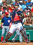 12 March 2009: Atlanta Braves' catcher David Ross in action during a Spring Training game against the Washington Nationals at Disney's Wide World of Sports in Orlando, Florida. The Braves defeated the Nationals 6-2 in the Grapefruit League matchup. Mandatory Photo Credit: Ed Wolfstein Photo