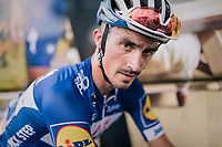 Julian Alaphilippe (FRA/Quick Step Floors) post-stage<br /> <br /> Stage 1: Noirmoutier-en-l'&Icirc;le &gt; Fontenay-le-Comte (189km)<br /> <br /> Le Grand D&eacute;part 2018<br /> 105th Tour de France 2018<br /> &copy;kramon