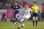 (L-R) Nahomi Kawasumi (JPN), Valentina Cernoia (ITA), MAY 28, 2015 - Football / Soccer : KIRIN Challenge Cup 2015 match between Japan 1-0 Italy at Minaminagano Sports Park, <br /> Nagano, Japan. (Photo by Yusuke Nakansihi/AFLO SPORT)