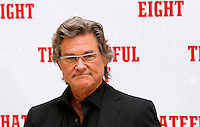 "L'attore statunitense Kurt Russell posa durante un photocall per la presentazione del film ""The Hateful Eight"" a Roma, 28 gennaio 2016.<br /> U.S. actor Kurt Russell poses during a photo call for the presentation of the movie 'The Hateful Eight' in Rome, 28 January 2016.<br /> UPDATE IMAGES PRESS/Riccardo De Luca"