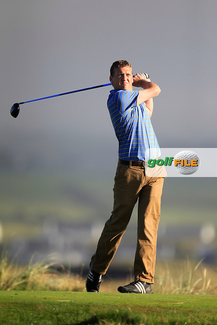 Emmet Leahy (Thurles) on the 2nd tee during the South of Ireland Amateur Open Championship Second Round at Lehinch Golf Club  28th July 2013 <br /> Picture:  Thos Caffrey / www.golffile.ie