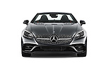 Car photography straight front view of a 2018 Mercedes Benz SLC-Roadster AMG-SLC43 2 Door Convertible Front View