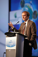 Montreal (QC) CANADA - April 2012 File Photo - <br /> Dr. Steve MacLean, President, Canadian Space Agencyi  speak at - IPY (International Polar Year) 2012 conference held at Montreal Convention Centre -