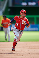 Washington Nationals catcher Tres Barrera (26) runs the bases during a Florida Instructional League game against the Miami Marlins on September 26, 2018 at the Marlins Park in Miami, Florida.  (Mike Janes/Four Seam Images)