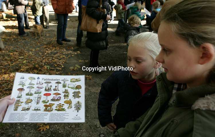Foto: VidiPhoto..ARNHEM - Paddestoelentocht landgoed Warnsborn Arnhem..