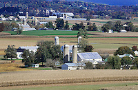 Amish farms and fields, Ephrata, Lancaster County, Pennsylvania, USA