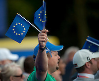 25.09.2014. Gleneagles, Auchterarder, Perthshire, Scotland.  The Ryder Cup.  European fans at the opening ceremony.